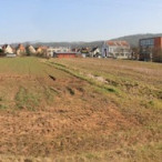 Hoffeld vor Beginn der Bahnbauarbeiten im November 2014