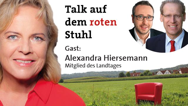 Talk auf dem roten Stuhl mit Alexandra Hiersemann